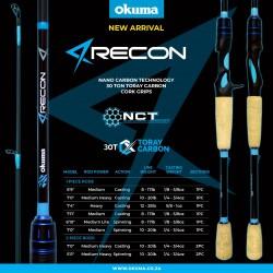 Okuma Recon 7' Medium Heavy Power Fast Action 2 Piece Casting Rod