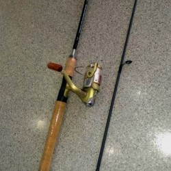 """CSP 6'6"""" 2 Pc Med Graphite / GFW 20 Spinning Combo"""