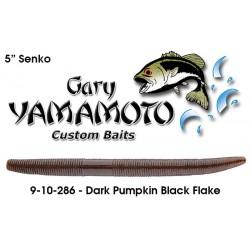 "Gary Yamamoto Yamasenko Dark Pumpkin / Large Black 5"""