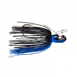 BOOYAH Melee-Black Blue Black Blade-1/2 oz Bladed Jig