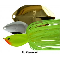 Picasso Light Wire Tandem Thunder Willow Spinnerbait Chartreuse