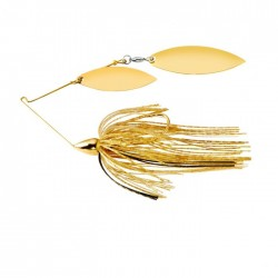 1/2 Oz WAR EAGLE GOLD FRAME DOUBLE WILLOW SPINNERBAIT- GOLD SHINER wg/WG