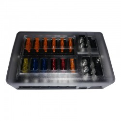 Marine / 4x4 Fuse Box - 1 in and 12 out with Negative Bus and LED indicator