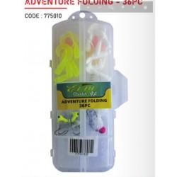 Elbe 36 pc Adventure Folding Fishing Starter Kit