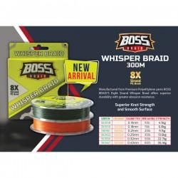Boss Whisper Braid  8X 10 lb - 4,5  kg 0.15 mm Braided Line 300 m Spool