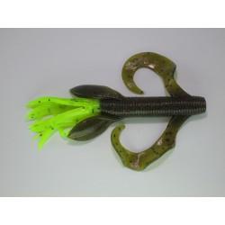 "Gary Yamamoto Kreature Green Pumpkin Purple & Copper Chart Black Tail 4"""