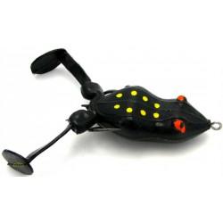 "Snag Proof Bass Kicker Frog Black 4.25"""