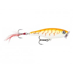 "Rapala Skitter Pop Orange Tiger UV 2 3/4"" 1/4oz"