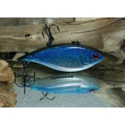 "Backstabber Lures Lipless Chrome Blue Stabber 3"" 1/2oz"