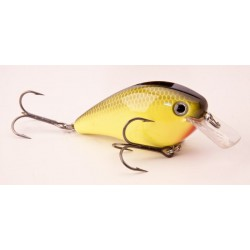 "Strike King Kvd Square Bill 2.5 Black Back Chartreuse 2 3/4"" 5/8oz"