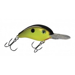 "Strike King Pro Model Series 6 Chartreuse Black Back 3"" 3/4oz"