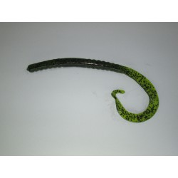 Ouzo Ribbon Tail Worm Watermelon Black 10""
