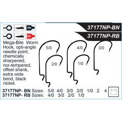Mustad Ultrapoint Mega Bite EWG WORM 3/0 Hook