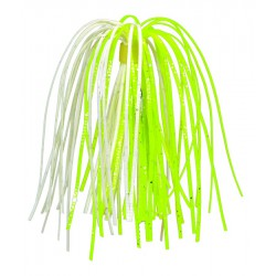Strike King Solid Silicone Skirts Chartreuse White