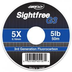 Airflo Sightfree G3 Fluorocarbon Tippet 3x 7lb 50m