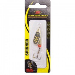 Sensation Bass Fury Inline Spinner Black Yellow Gold 4