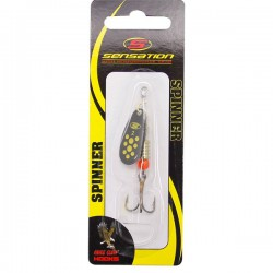 Sensation Bass Fury Inline Spinner Black Yellow Black 5
