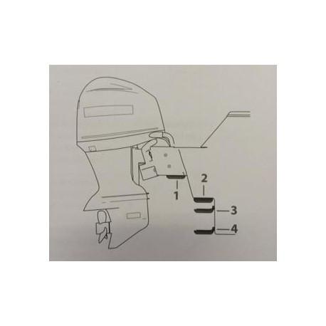 Lowrance StructureScan Skimmer Transducer Flush Mount Bracket