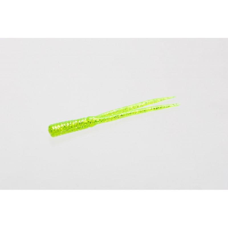 Zoom Split Tail Bait Trailer-Pack of 20 Chartreuse Glitter, 3.5-Inc 008047 NEW