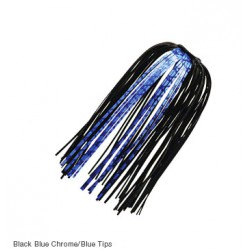 Z-Man EZ Skirts BLACK BLUE - CHROME BLUE