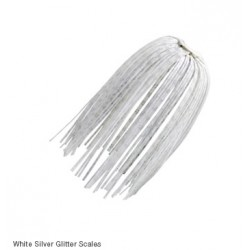 Z-Man EZ Skirts WHITE SILVER GLITTER