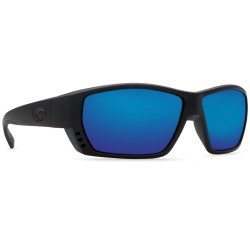 Costa TUNA ALLEY 580G Sunglasses Black Frame Blue Mirror Glass Lens